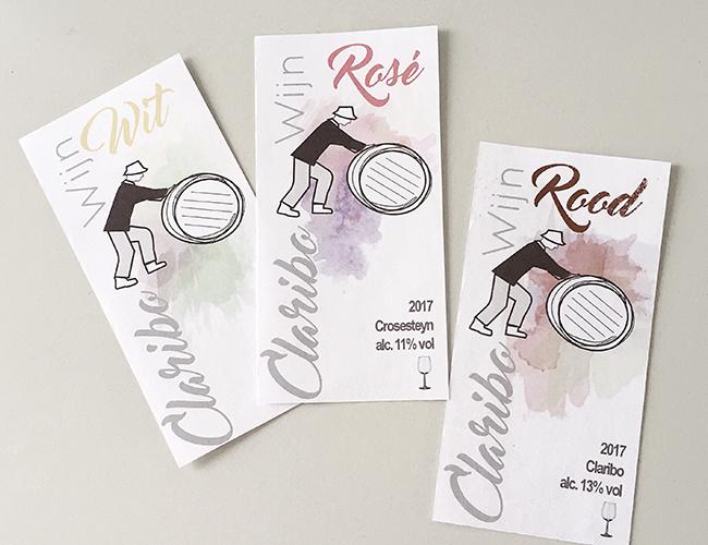 Claribo wine labels