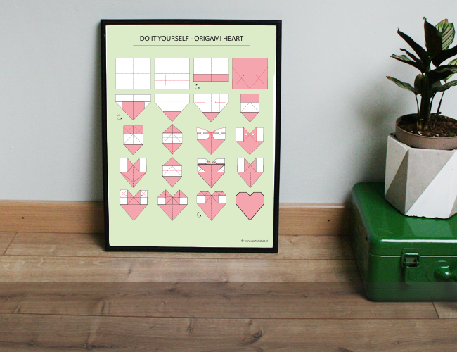 Poster – DIY Origami Heart