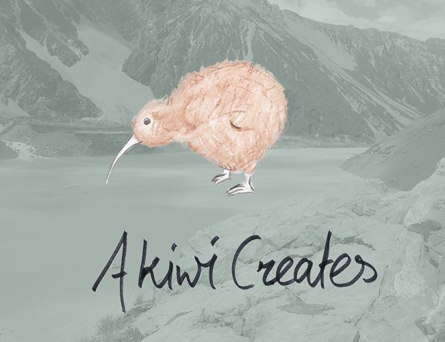 A kiwi creates